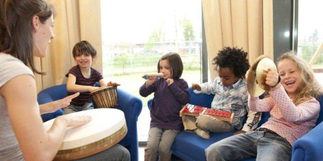 Spaß an Klanggeschichten im Kindergarten.