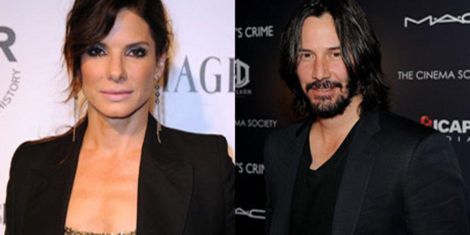 Sandra Bullock trifft sich mit Keanu Reeves