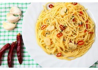 Spaghetti mit Chili und Koblauch