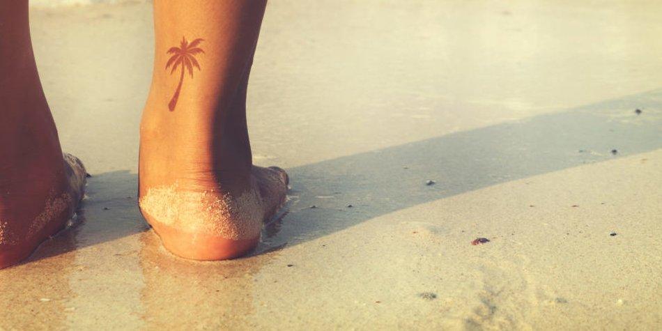Palmen-Tattoo