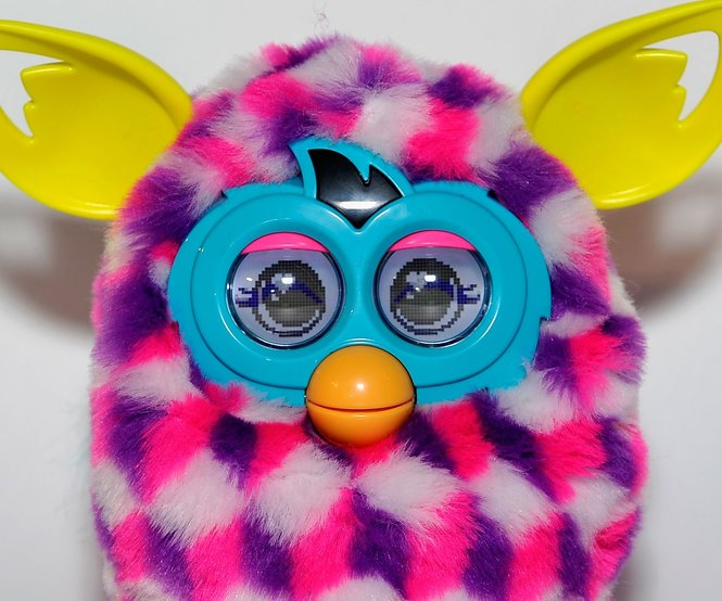LONDON, ENGLAND - NOVEMBER 06: A general view of a Furby Boom at the Dream Toys 2013 press day at St Mary's on November 6, 2013 in London, England. (Photo by Gareth Cattermole/Getty Images)