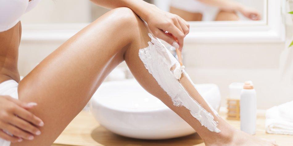 Beine besser abends rasieren