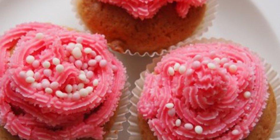 Fruchtig frische Limetten Himbeer Cupcakes