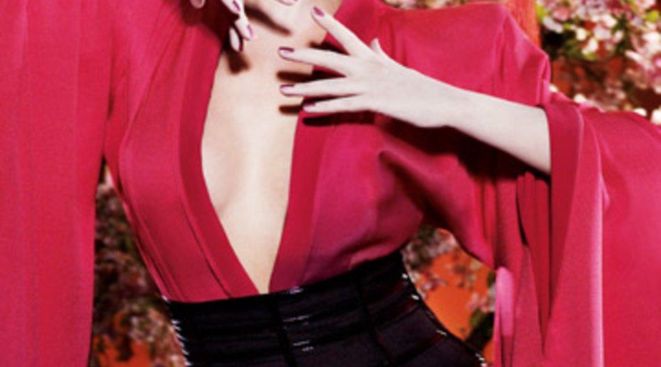 """Kylie Minogue als Geisha im Bildband """"Kylie Fashion""""."""