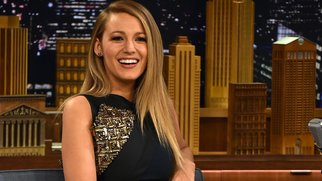 """NEW YORK, NY - APRIL 21: Blake Lively Visits """"The Tonight Show Starring Jimmy Fallon"""" at Rockefeller Center on April 21, 2015 in New York City. (Photo by Theo Wargo/NBC/Getty Images for """"The Tonight Show Starring Jimmy Fallon"""")"""