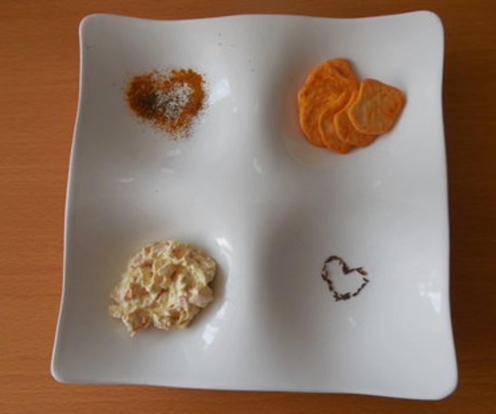 Frischkäse Schinken-Curry-Dip