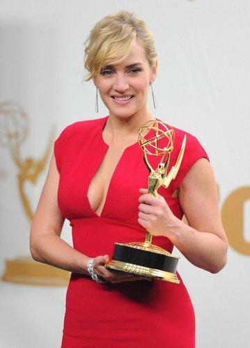 Kate Winslet mit ihrem Emmy