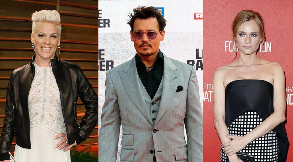 Pink, Diane Kruger, Johnny Depp