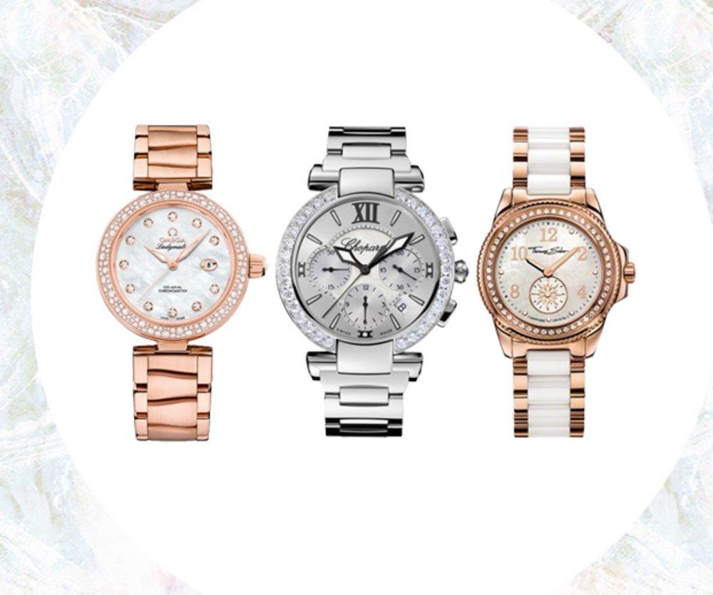 Perlmutt-Uhren
