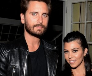 LOS ANGELES, CA - APRIL 23: TV personalities Scott Disick (L) and Kourtney Kardashian attend Opening Ceremony and Calvin Klein Jeans' celebration launch of the #mycalvins Denim Series with special guest Kendall Jenner at Chateau Marmont on April 23, 2015 in Los Angeles, California. (Photo by Chris Weeks/Getty Images for Calvin Klein)