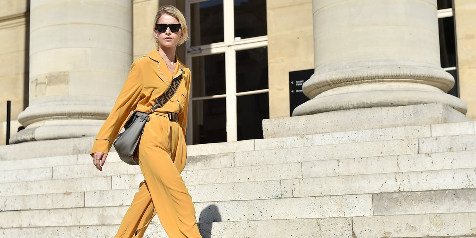 PARIS, FRANCE - JULY 04: Caroline Daur attends Fendi Couture during Paris Fashion Week - Haute Couture Fall Winter 2018/2019 - on July 4, 2018 in Paris, France. (Photo by Jacopo Raule/Getty Images for Fendi)