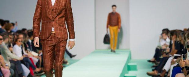Patchwork Suit bei Paul Smith S/S 2013