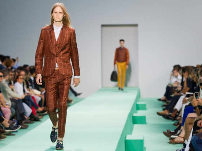 Patchwork Suit bei Paul Smith S/S 2013