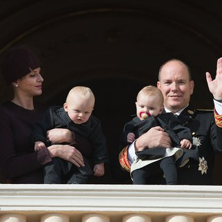MONACO - NOVEMBER 19: Princess Charlene of Monaco attends the balcony apprearance of the National day celebrations with Princess Gabriella, Prince Jacques and Prince Albert II of Monaco on November 19, 2015 in Monaco, Monaco. (Photo by Pascal Le Segretain/Getty Images)