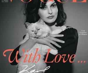 Karl Lagerfeld-Katze auf dem Cover der Vogue