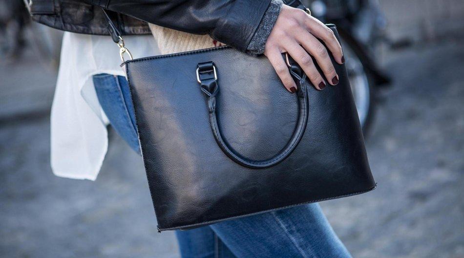 Leder-Handtasche