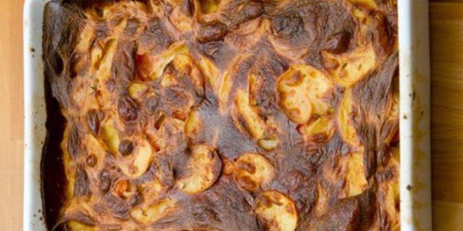 Kartoffelgratin mit Schinken