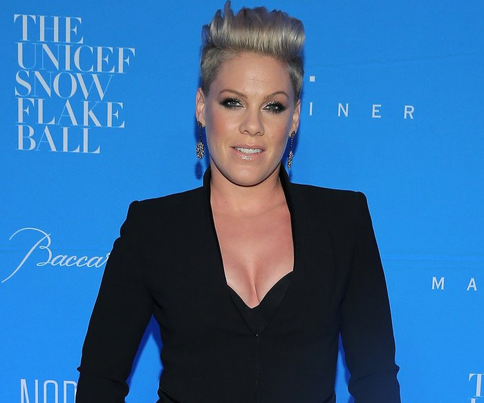 NEW YORK, NY - DECEMBER 01: Performer, recording artist P!nk attends the 11th Annual UNICEF Snowflake Ball Honoring Orlando Bloom, Mindy Grossman And Edward G. Lloyd at Cipriani, Wall Street on December 1, 2015 in New York City. (Photo by Jemal Countess/Getty Images for UNICEF)