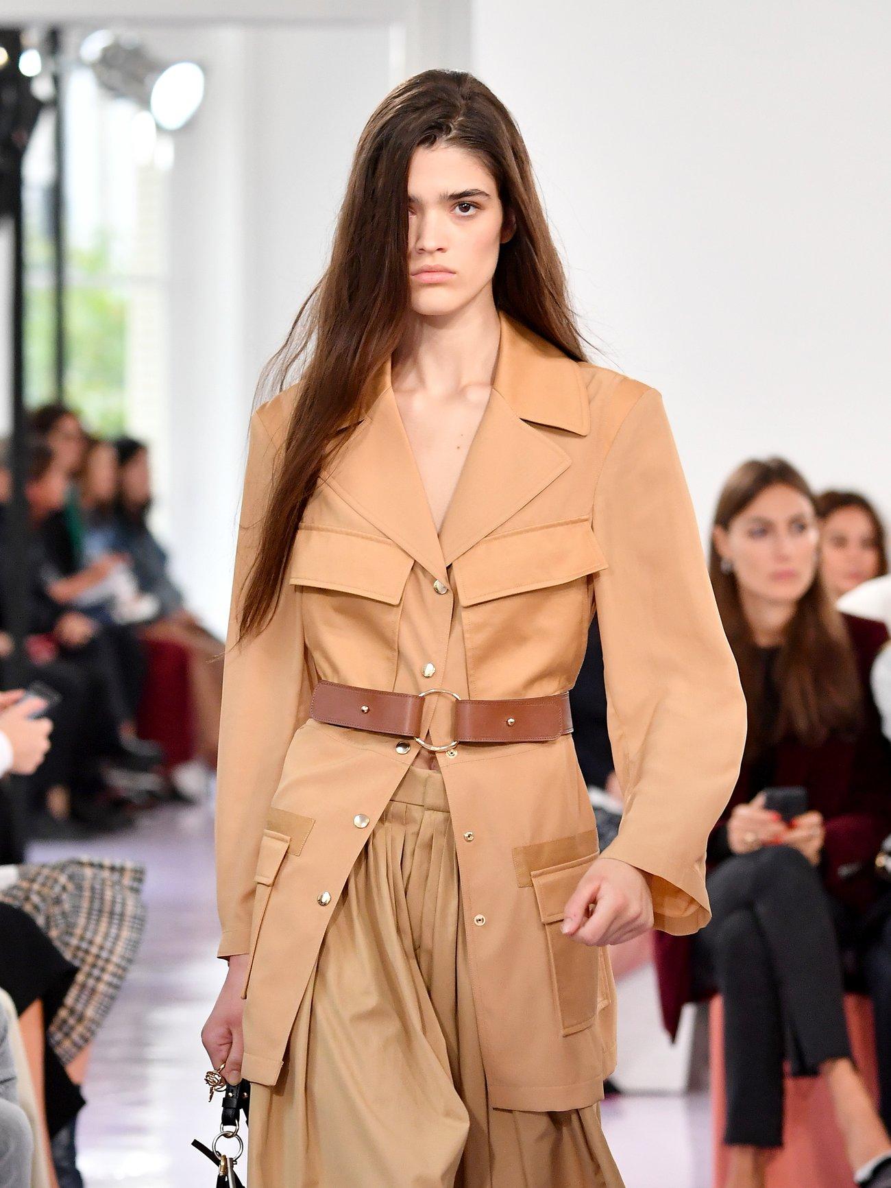 Jacken Trends 2019 aufgesetzte Taschen Chloe