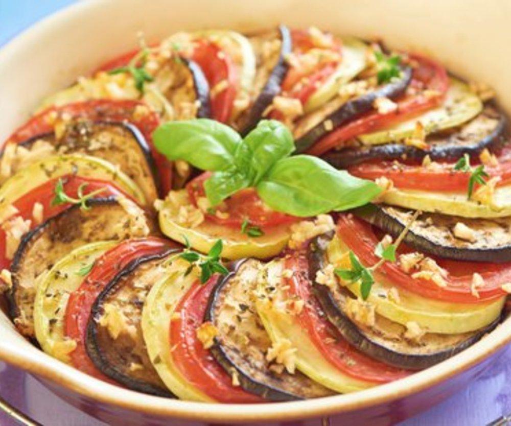 Gemüseauflauf fettarm