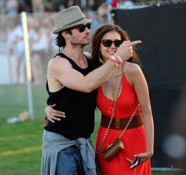 Ian Somerhalder und Nina Dobrev bei einem Festival
