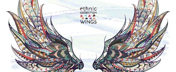 Flügel-Tattoo Vorlage 1