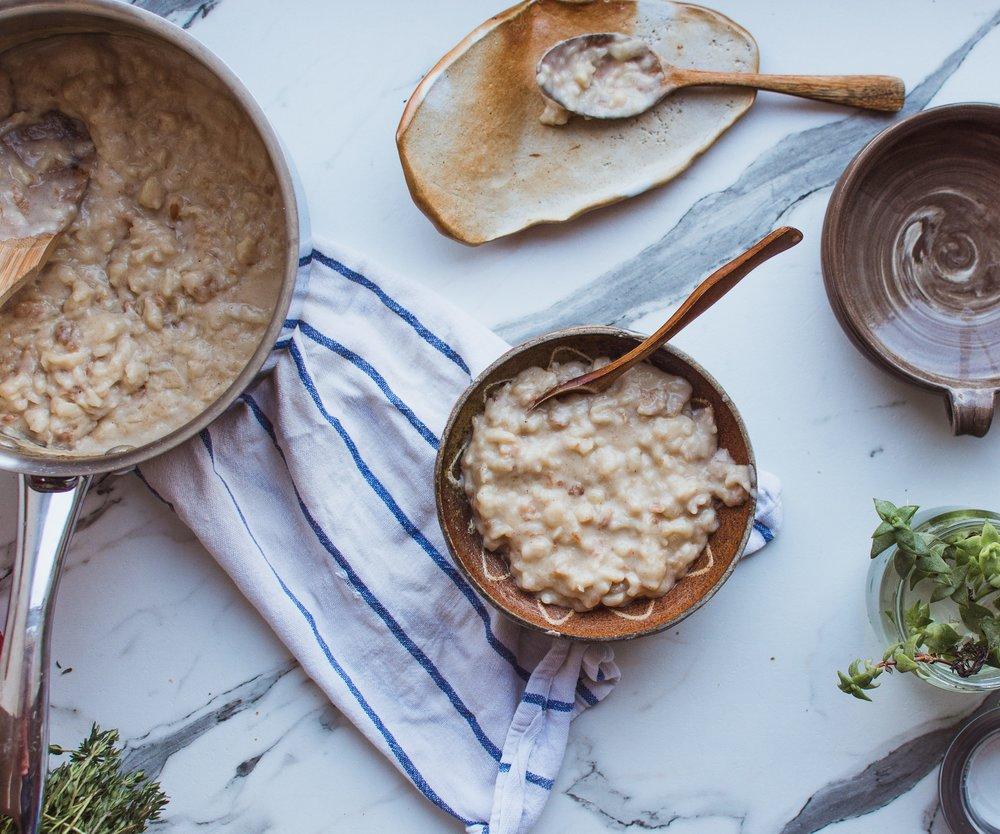Porridge mit Wasser zubereiten