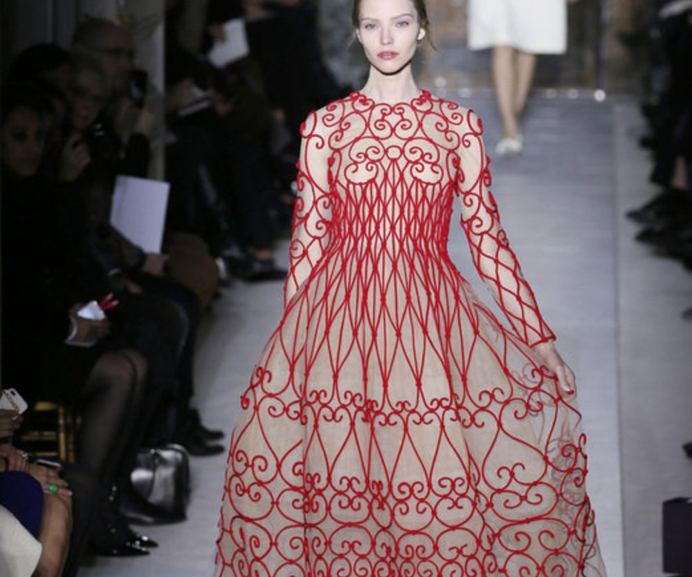 Seidenrobe bei Valentino Haute Couture 2013