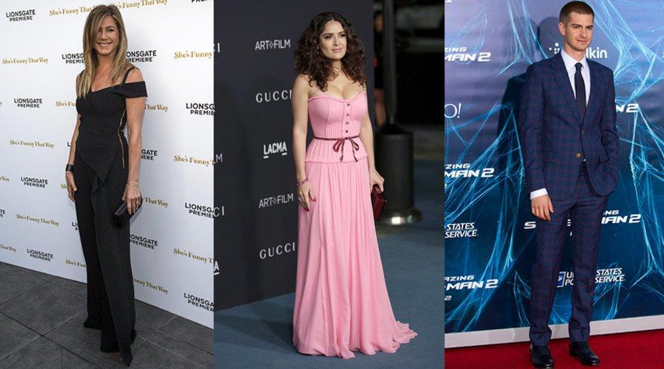 Andrew Garfield, Jennifer Aniston, Salma Hayek