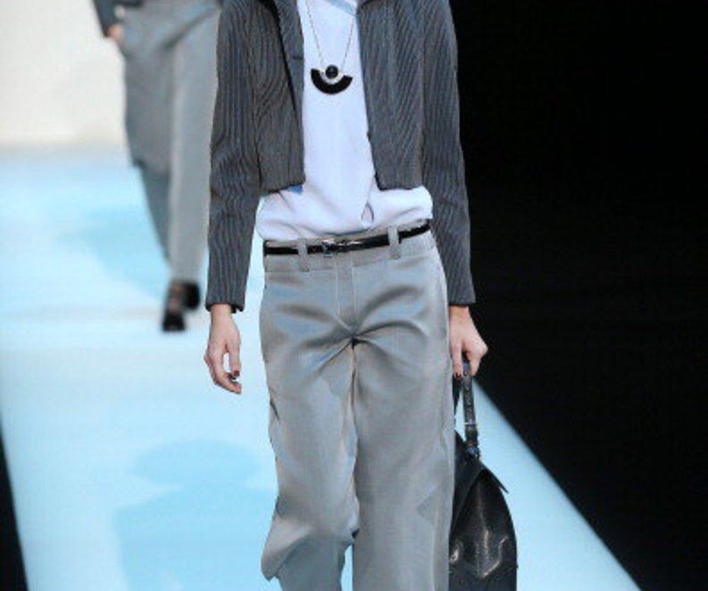 Outfit von Armani bei der Mailand Fashion Week 2013