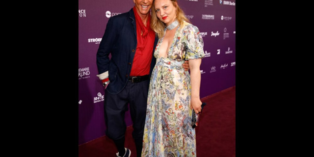 Wolfgang Joop zusammen mit Tochter Florentine Joop