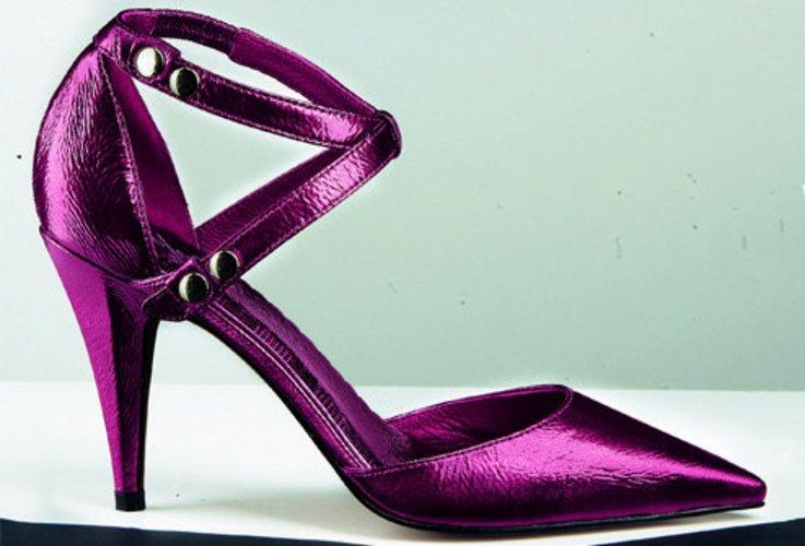 Slingpump von Laura Scott in pink-violett oder schwarz.