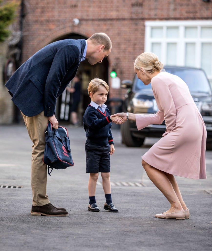 Prinz George erster Schultag