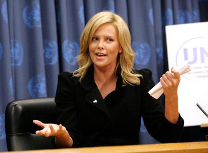 Die UN-Friedensbotschafterin Charlize Theron