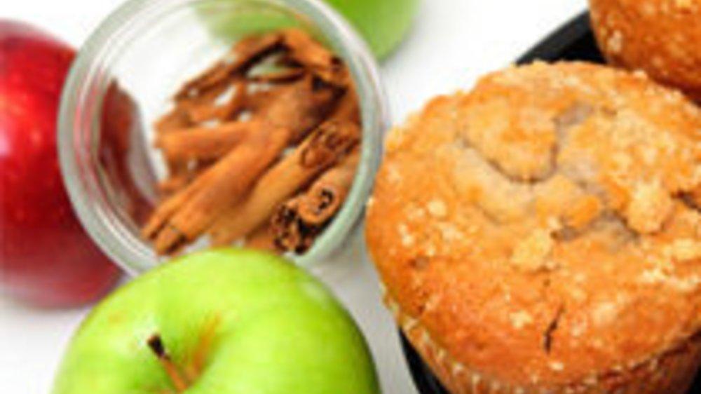 Apfelmuffins mit Zimt und Bucheckern