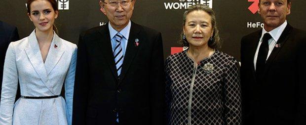 Emma Watson und UN-Generalsekretär Ban Ki-moon
