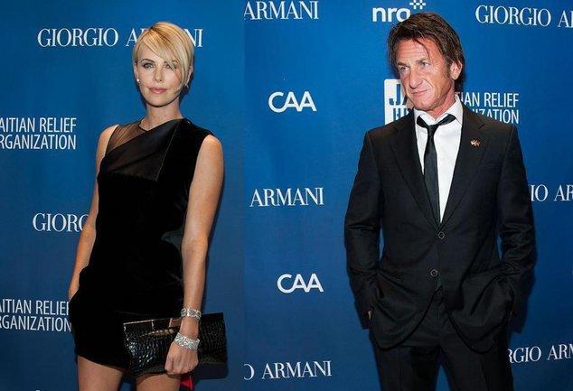 Charlize Theron und Sean Penn bei einer Benefizgala