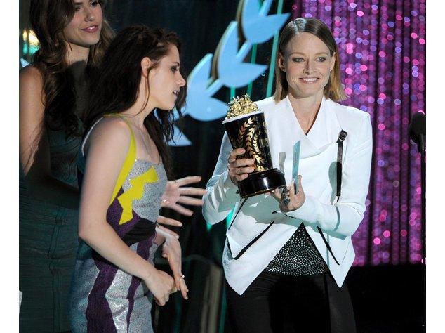 Befreundet: Kristen Stewart und Jodie Foster.