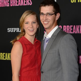 HOLLYWOOD, CA - MARCH 14: Actress Heather Morris and Taylor Hubbell attend the 'Spring Breakers' premiere at ArcLight Cinemas on March 14, 2013 in Hollywood, California. (Photo by Jason Merritt/Getty Images)