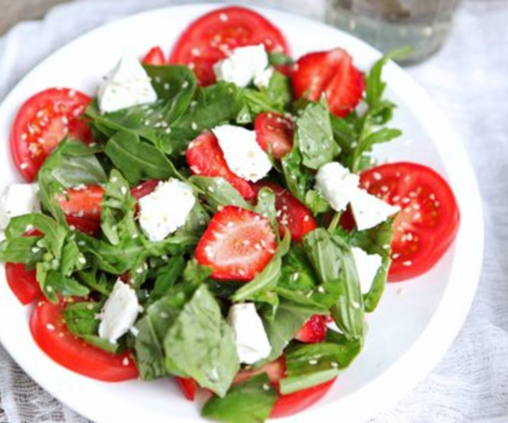 Erdbeer Rucola Salat