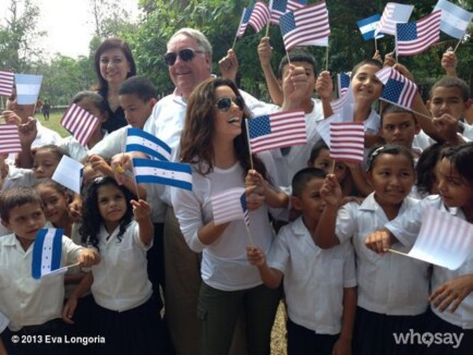 Eva Longoria in Honduras