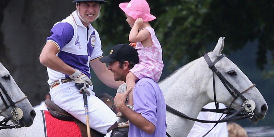 Prinz William ist noch vollkommen entspannt