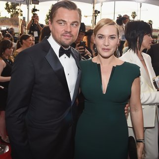 LOS ANGELES, CA - JANUARY 30: Actors Leonardo Dicaprio and Kate Winslet attend The 22nd Annual Screen Actors Guild Awards at The Shrine Auditorium on January 30, 2016 in Los Angeles, California. 25650_014 (Photo by Larry Busacca/Getty Images for Turner)