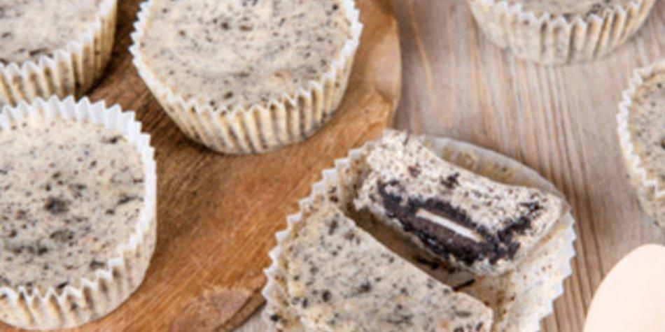 Oreo Cupcakes mit Käsekuchenteig
