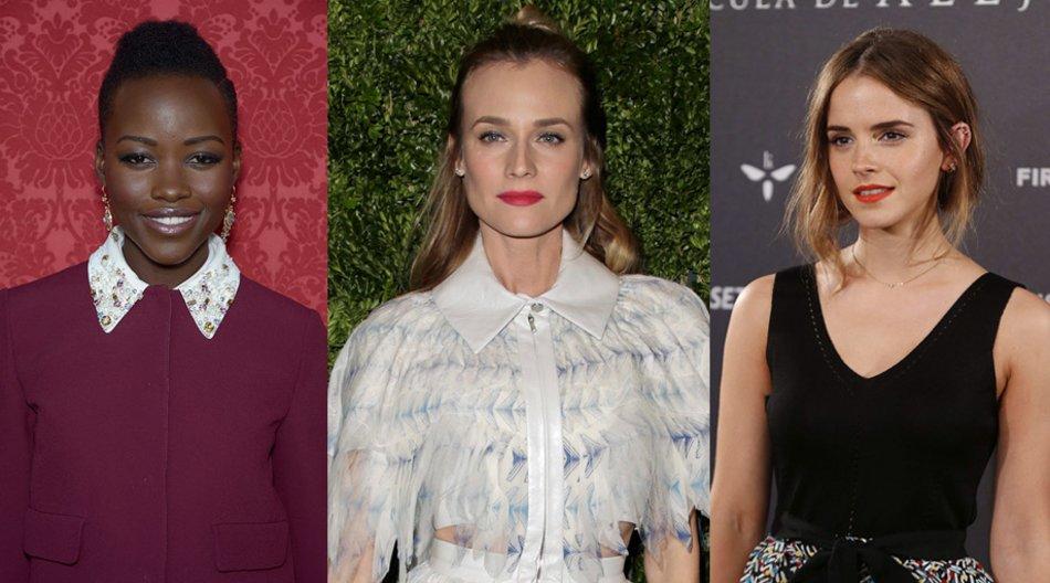 Lupita Nyong'o, Diane Kruger, Emma Watson