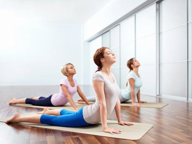 Yoga-Übung