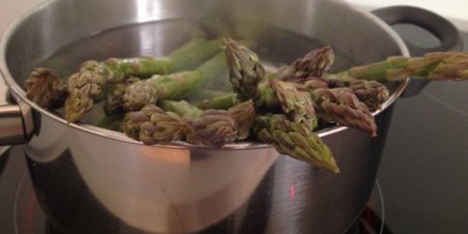 Grüner Spargel Zubereitung