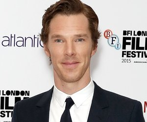 """LONDON, ENGLAND - OCTOBER 11: (EDITOR'S NOTE: This image has been converted to black and white) Benedict Cumberbatch attends the """"Black Mass"""" Virgin Atlantic Gala screening during the BFI London Film Festival, at Odeon Leicester Square on October 11, 2015 in London, England. (Photo by John Phillips/Getty Images for BFI)"""