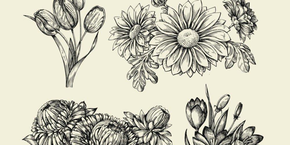 Vorlagen Blumen-Tattoo