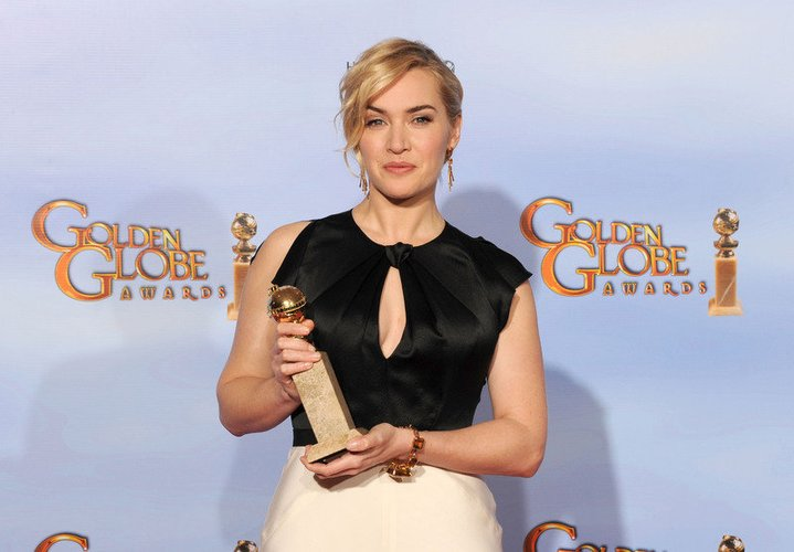 Kate Winslet mit Golden Globe